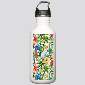 Tropical Flowers and M Stainless Water Bottle 1.0L