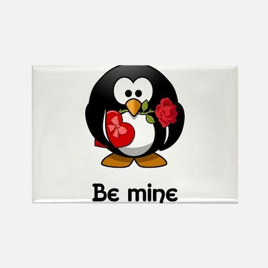 Be Mine Penguin Magnets