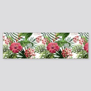 Watercolor Tropical Flowers Patte Sticker (Bumper)