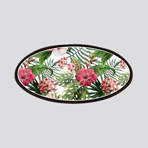 Watercolor Tropical Flowers Pattern Patch