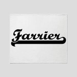 Farrier Artistic Job Design Throw Blanket