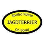 Spoiled Jagdterrier On Board Oval Sticker