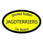 Spoiled Jagdterriers On Board Oval Sticker