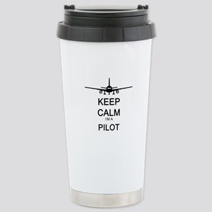 Keep Calm I'm A Pilot Stainless Steel Travel M
