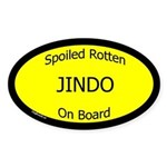 Spoiled Jindo On Board Oval Sticker