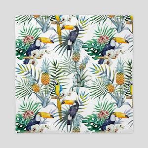 Macaw Tropical Birds and Plants Queen Duvet
