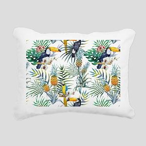 Macaw Tropical Birds and Rectangular Canvas Pillow