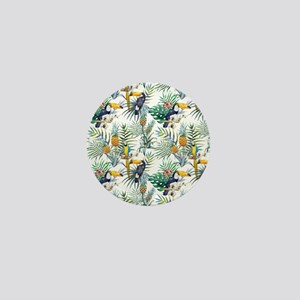 Macaw Tropical Birds and Plants Mini Button