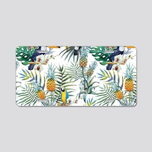 Macaw Tropical Birds and Pl Aluminum License Plate
