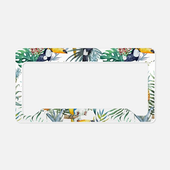 Macaw Tropical Birds and Plan License Plate Holder