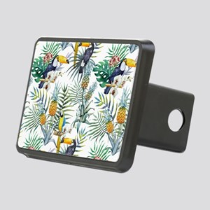 Macaw Tropical Birds and P Rectangular Hitch Cover