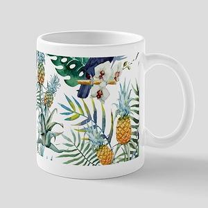 Macaw Tropical Birds and Plants Mug