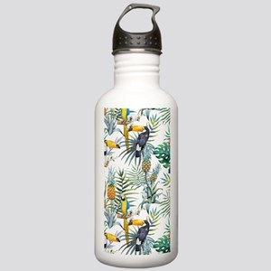 Macaw Tropical Birds a Stainless Water Bottle 1.0L