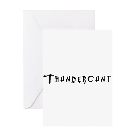 Thundercunt Greeting Card