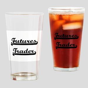 Futures Trader Artistic Job Design Drinking Glass