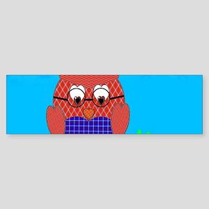 Tartan Owl Bumper Sticker
