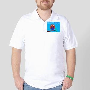 Tartan Owl Golf Shirt