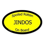 Spoiled Jindos On Board Oval Sticker