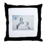 Rearing Stallion W Mini Throw Pillow
