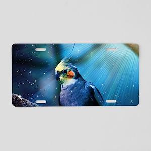 Cockatiel Aluminum License Plate