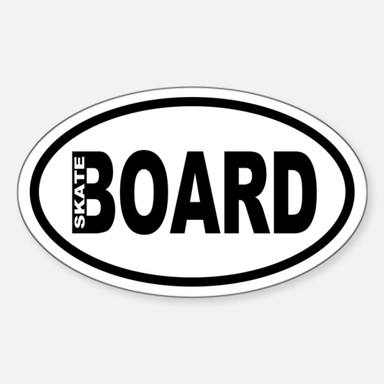Skateboarding Oval Decal