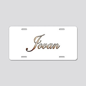 Gold Jovan Aluminum License Plate