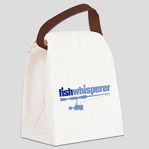 fishwhisperer Canvas Lunch Bag