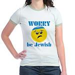 Worry Be Jewish Jr. Ringer T-Shirt