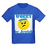 Worry Be Jewish Kids Dark T-Shirt