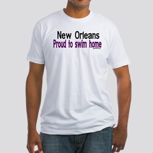 NOLA Proud To Swim Home Fitted T-Shirt