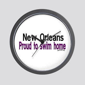 NOLA Proud To Swim Home Wall Clock
