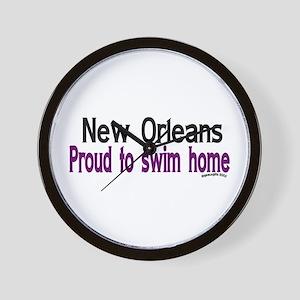 NOLA Proud To Swim Home Wall Clock
