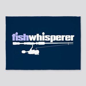 fishwhisperer 5'x7'Area Rug