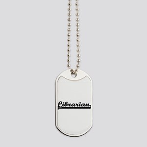 Librarian Artistic Job Design Dog Tags