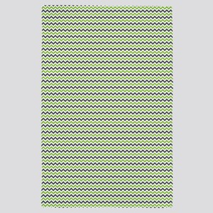 Lime Gray Chevron 4' x 6' Rug