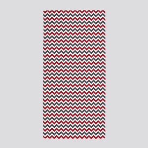 Red Gray Chevron Beach Towel