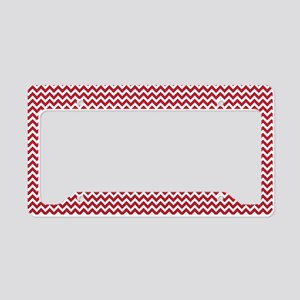 Red Chevron License Plate Holder