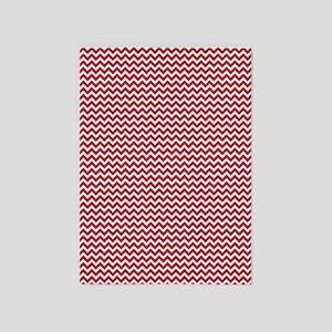 Red Chevron 5'x7'Area Rug