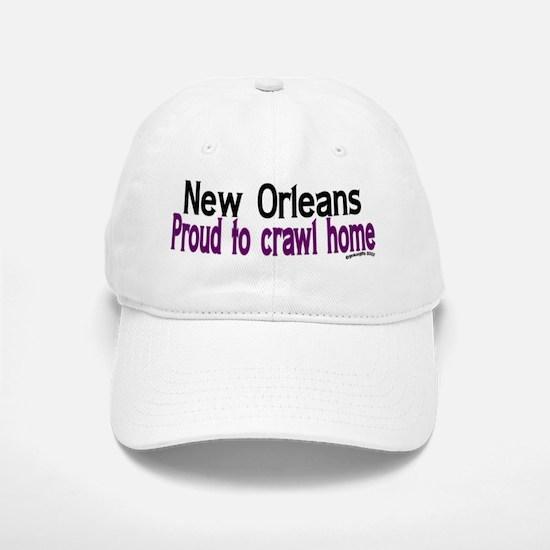 NOLA Proud To Crawl Home Baseball Baseball Cap
