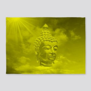 buddha in gold 5'x7'Area Rug