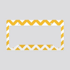 Yellow Chevron License Plate Holder