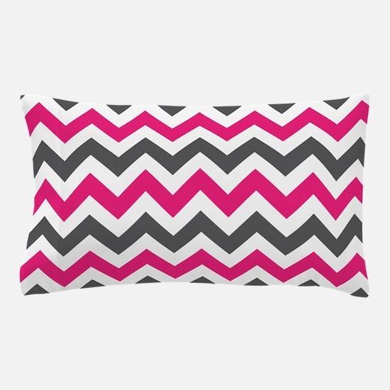Pink Gray Chevron Pillow Case