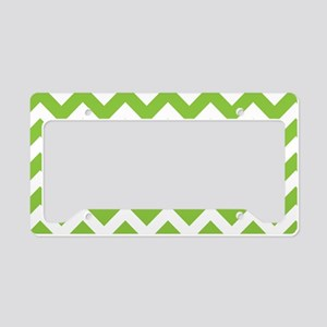 Lime Green Chevron License Plate Holder