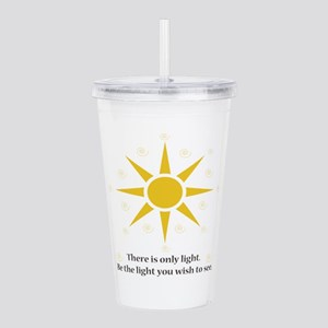 only light sunshine Acrylic Double-wall Tumbler