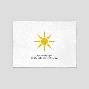 only light sunshine 5'x7'Area Rug