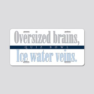 Oversized Brains Aluminum License Plate