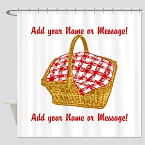 Personalized Picnic Basket Shower Curtain