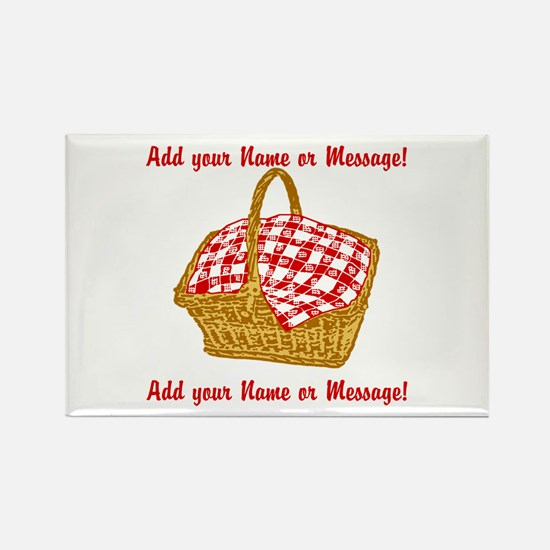 Personalized Picnic Basket Rectangle Magnet