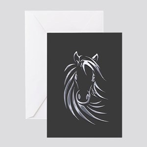 Silver Horse Greeting Cards