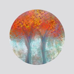 Dazzling Trees in Reds and Orange Button